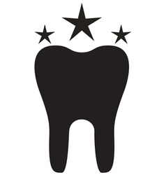 Teeth Icon Star vector image
