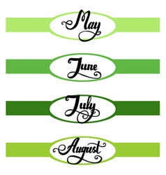 template of top banner for your own calendary vector image