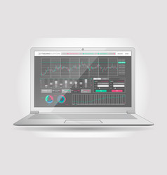 Trading platform interface with infographic vector