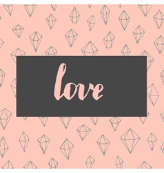 Trendy love card vector