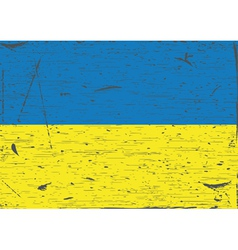 Ukraine flag grunge vector