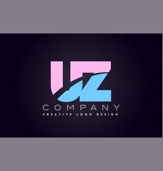 uz alphabet letter join joined letter logo design vector image