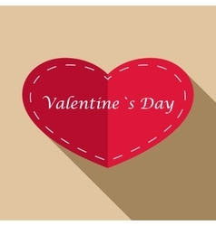 Valentines day icon flat style vector
