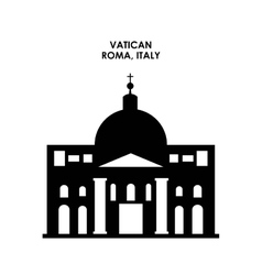 Vatican icon Italy culture design graphic vector