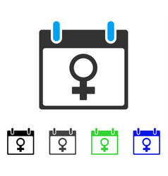 Venus female symbol calendar day flat icon vector