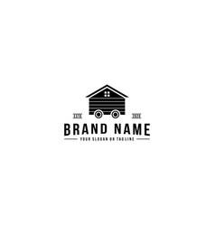Wheel house logo design vector