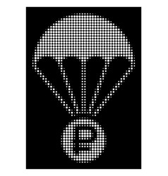 White halftone rouble rescue icon vector