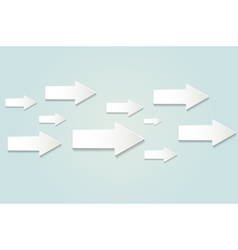White paper arrows vector