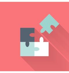 Flat puzzle icon vector