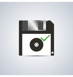 Icon successful write vector image