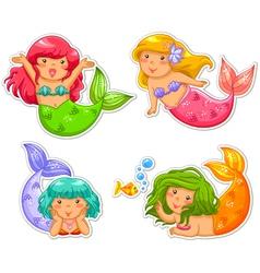 little mermaids vector image vector image