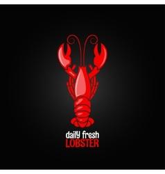 Lobster seafood menu design background vector