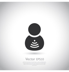 Man with wifi symbol insite body vector image