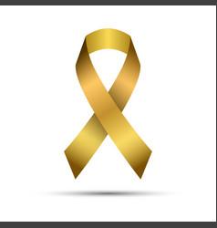 modern golden ribbon isolated on white background vector image