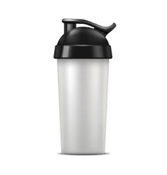 realistic detailed 3d sport nutrition drink bottle vector image