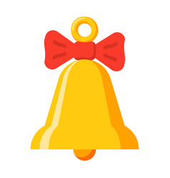Yellow bell icon vector