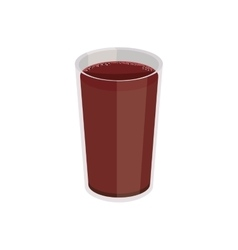 breakfast plastic cup with drink vector image