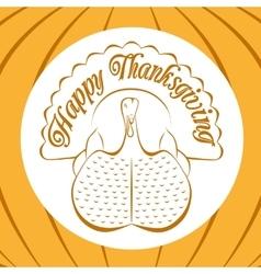 Color celebratory background turkey bird vector