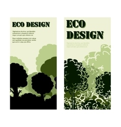 Eco design banners with forest vector