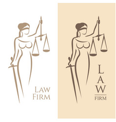 lady justice law vector image vector image