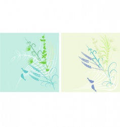 spring background with birds vector image
