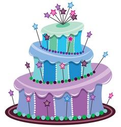 vector big birthday cake vector image