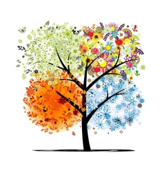 Four seasons - spring summer autumn winter Art vector image vector image