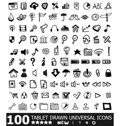Hand-drawn web icon set vector image