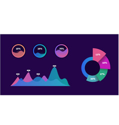 infographic dashboard template with graphs and vector image vector image