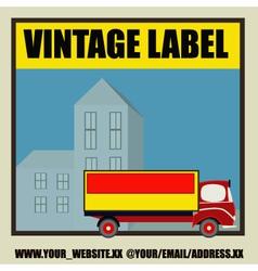 Retro Auto Delivery Label vector image