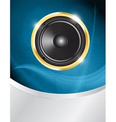 speaker on blue neon vector image