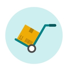 Hand truck flat icon vector image