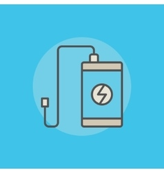 Portable power bank icon vector image