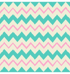 seamless chevron pattern in blue and pink vector image