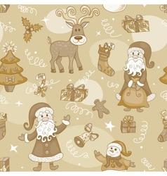 Sepia holiday seamless pattern vector image