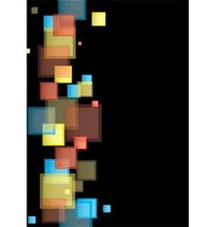 Square rainbow presentation vector image vector image