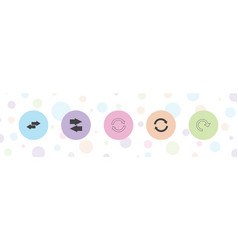 5 refresh icons vector
