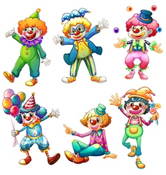 A group of clowns vector image