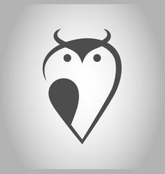 Abstract owl symbol icon vector