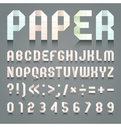 Alphabet folded paper vector