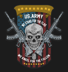 America us army skull usa american soldier with w vector