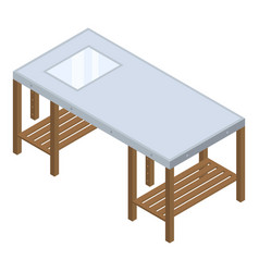 architect work table icon isometric style vector image