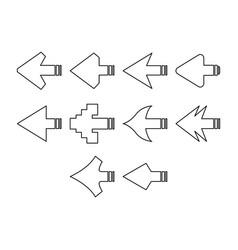 arrows a icon set vector image