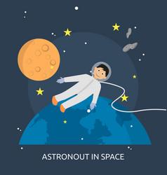 Astronout in space conceptual design vector