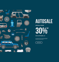 autosale special offer banner car service vector image