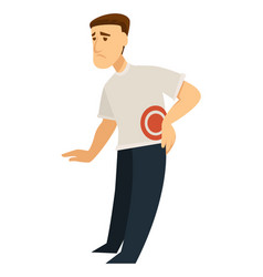 Backache back pain inflammation isolated male vector