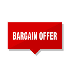 Bargain offer red tag vector