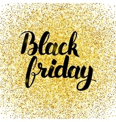 Black Friday Gold Poster vector image