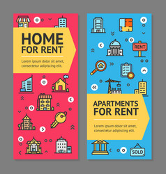 Building house or home and apartment for rent vector