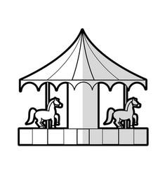 Carrousel carnival or fair icon image vector
